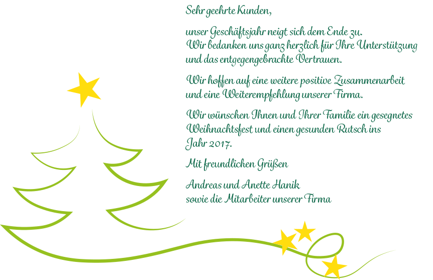 Weihnachtsgrüße Text Für Mitarbeiter.Weihnachtsgruß Andreas Hanik